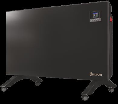 Подов конвектор с дистанционно Wi-Fi управление ELDOM Galant в черен цвят