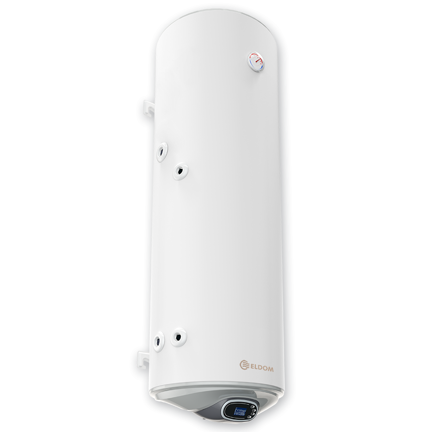 Комбиниран бойлер ELDOM Green Line 150 л, с лява серпентина, електронно управление, емайлиран