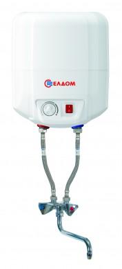Eldom 7 л над мивка с батерия емайлиран