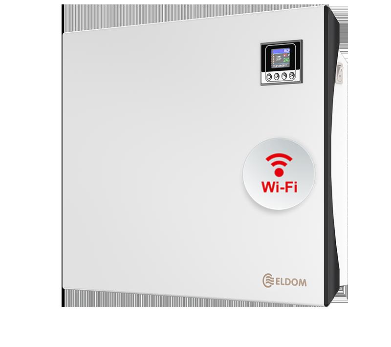 Стенен конвектор с електронно управление и wi-fi ELDOM Galant, 1000 W